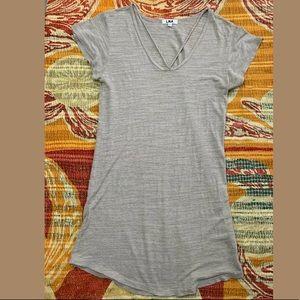 LNA CROSS STRAP TUNIC DRESS Oatmeal Beige XS